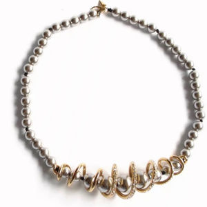 NEW! ALEXIS BITTAR Beaded Coil Pearl Necklace